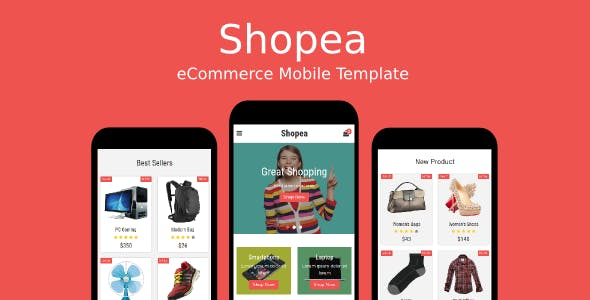 Shopea - eCommerce Mobile Template
