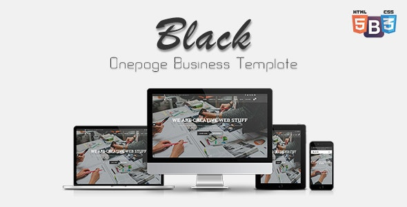 Black - Onepage Business Template - Business Corporate