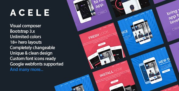 Acele - Technology App Software WordPress Theme
