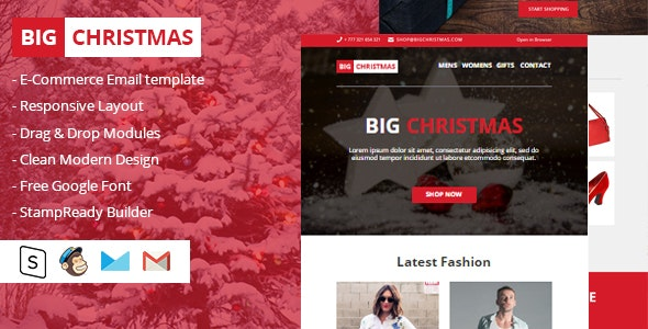 Big Christmas Multipurpose Email Newsletter - Email Templates Marketing