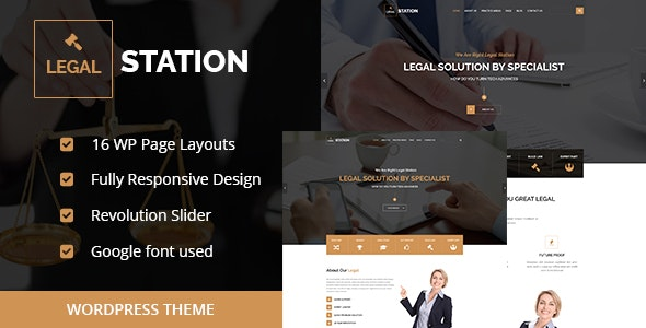 LEGAL STATION- Responsive Legal Solution WordPress Theme - Business Corporate