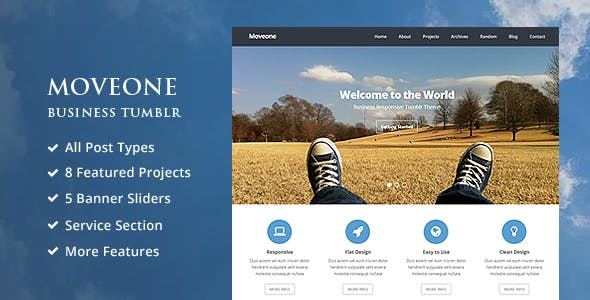 White Tumblr Themes from ThemeForest