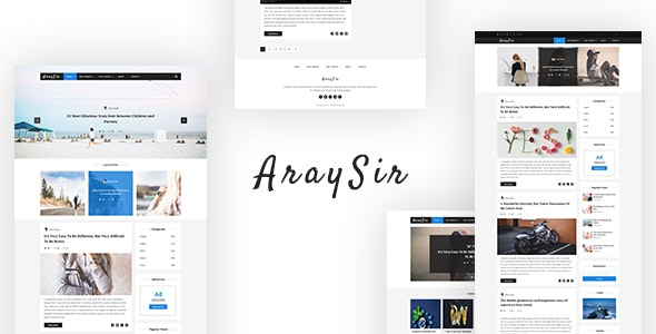 AraySir - Clean PSD Blogging Template - Personal Photoshop