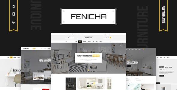 Fenicha - Interior & Furniture Store PSD Templates