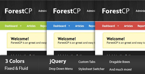 ForestCP - Admin Templates Site Templates