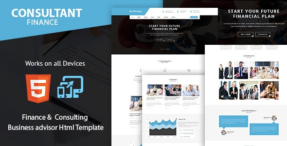 Consulting Finance and Accounts – Advisor Business Html Template - Business Corporate