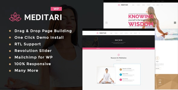 Meditari – Responsive WP Theme for Meditation & Life Science. - Health & Beauty Retail