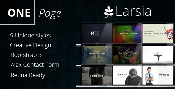Larsia Gold - OnePage Personal & Resume Template - Personal Site Templates