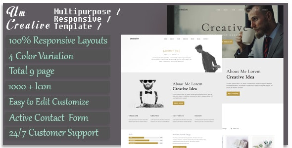 UmCreative - Creative HTML5 Template - Creative Site Templates