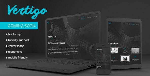 Vertigo - Responsive Minimal Coming Soon Template - Under Construction Specialty Pages