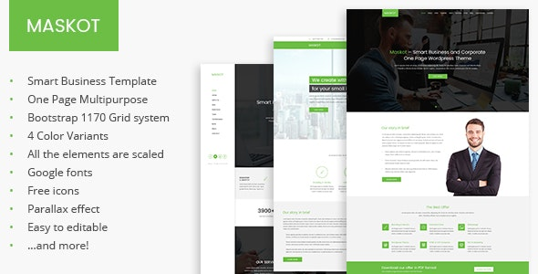 Maskot – Smart Business PSD Template - Business Corporate