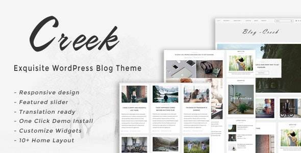 Creek - Exquisite WordPress Blog Template by kendythemes