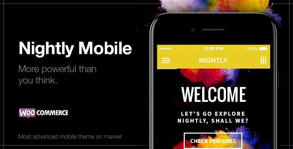 Nightly | Mobile WordPress Theme (33 different styles) - Mobile WordPress