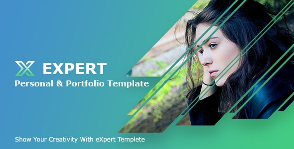 Expert_Personal Profile/Resume PSD Template - Personal Photoshop
