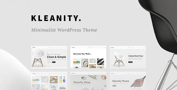 Kleanity - Minimalist WordPress Theme / Creative Portfolio