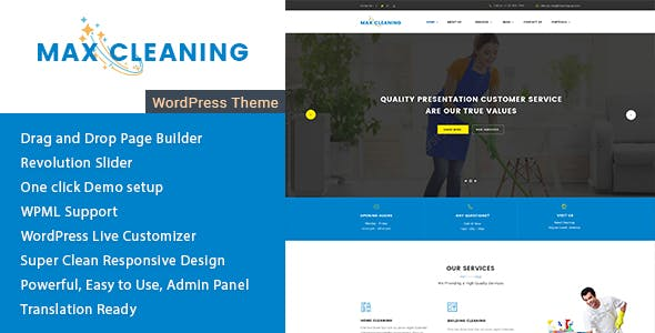Max Cleaning - Responsive WordPress Theme