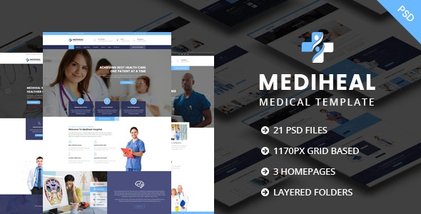 MediHeal - Medical Hospital PSD Template - Corporate Photoshop