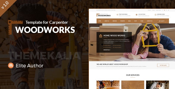 Wood Works - Carpenter and Craftsman Business HTML Template - Business Corporate