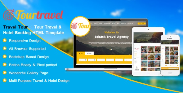 Travel Tour - Hotel and Booking HTML Template - Travel Retail