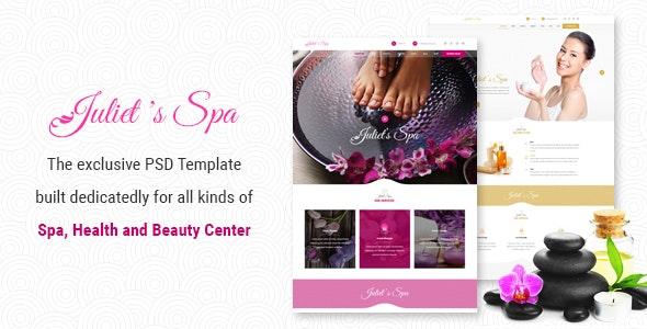Juliet's Spa – PSD Template - Health & Beauty Retail