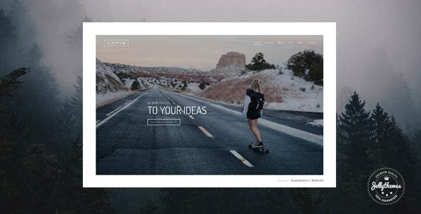 Rebirth - Freelance & Agency Portfolio Template - Creative Site Templates