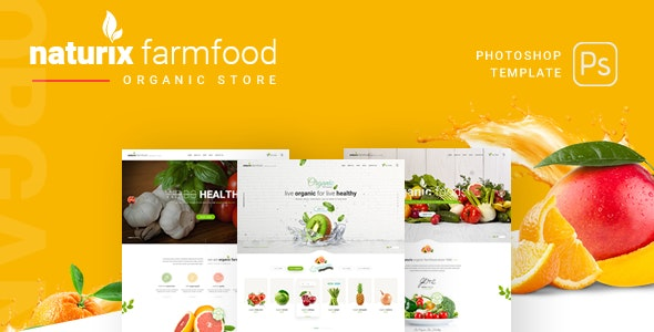 Naturix - Organic Store PSD Template - Food Retail