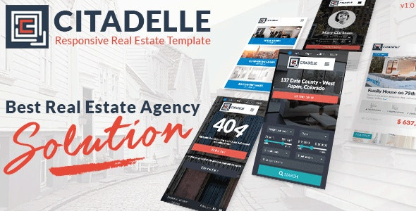 Citadelle - Fully Responsive Real Estate Template - Business Corporate