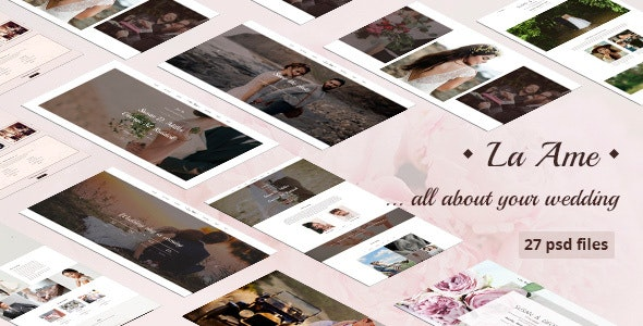 La Ame — Elegant Wedding PSD Template - Entertainment Photoshop