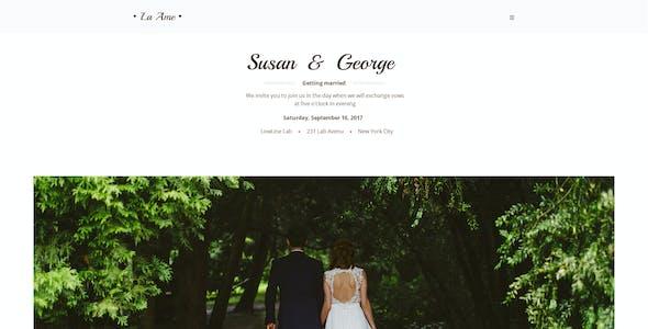La Ame — Elegant Wedding PSD Template
