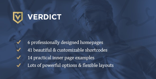 Verdict - Lawyer WordPress Theme - Business Corporate