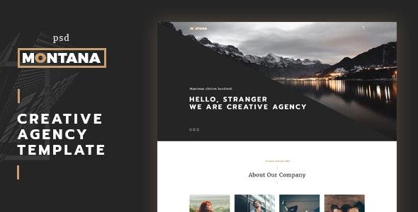 Montana - One Page PSD Template - Portfolio Creative
