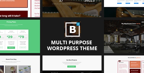 One page WordPress Theme - BIG Border - Portfolio Creative