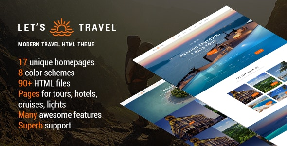 Let's Travel - Responsive Travel Booking Site Template - Travel Retail