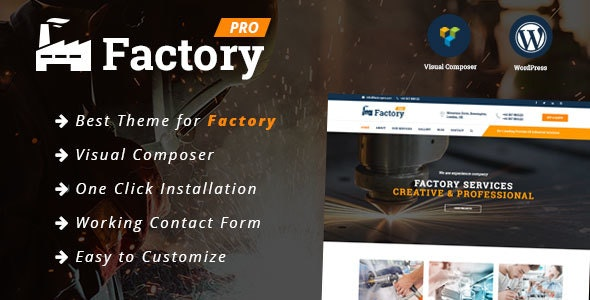 Factory - Industrial / Construction / Factory Responsive WordPress Theme - Business Corporate