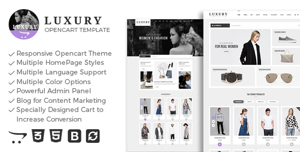 Luxury - Responsive Opencart Theme - Shopping OpenCart
