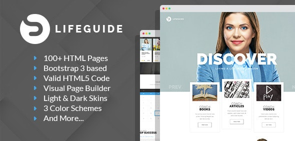 LifeGuide - Personal and Life Coach HTML template with Builder - Personal Site Templates
