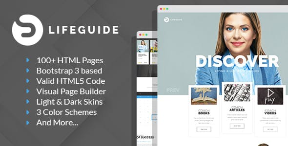 LifeGuide - Personal and Life Coach HTML template with Builder