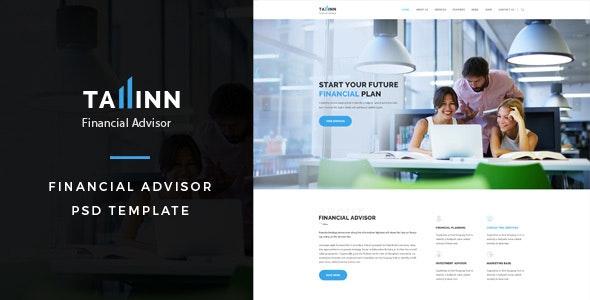 Tallinn : Financial Advisor PSD Template - Business Corporate