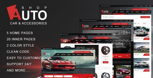 Autoshop - Car & Accessories HTML5 Template - Retail Site Templates