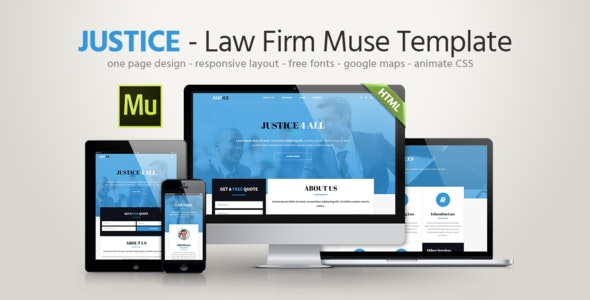 Justice - Law Firm Template - Corporate Muse Templates