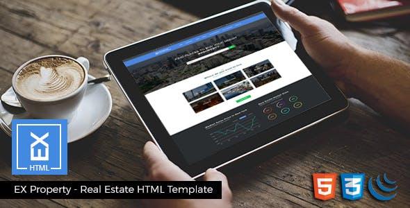 EX Properties – Real Estate Responsive HTML Template