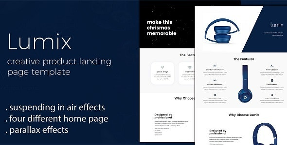 Lumix - Product Landing Page Template - Landing Pages Marketing