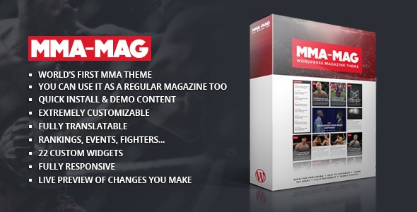 MMA Sports Magazine Theme - Blog / Magazine WordPress