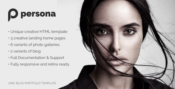 Persona - Photography Template - Photography Creative