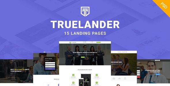 TrueLander - Multipurpose PSD Landing Pages Kit - Marketing Corporate