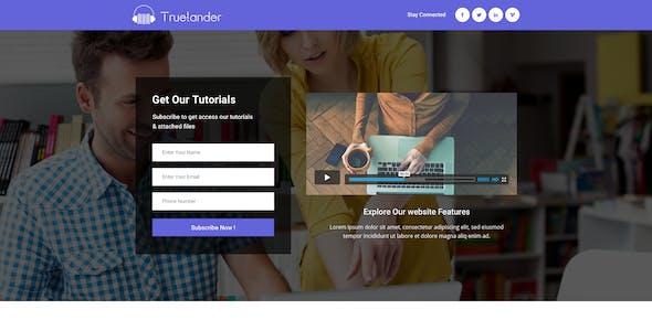 TrueLander - Multipurpose PSD Landing Pages Kit