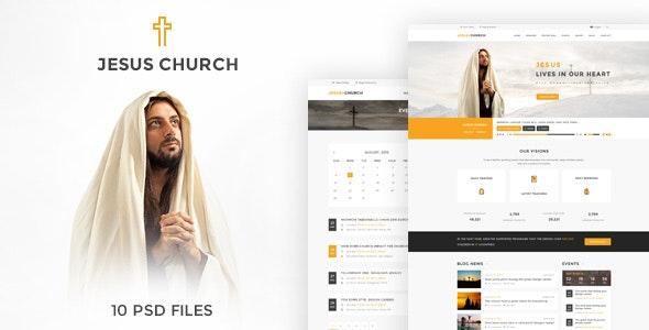 JESUS CHURCH | PSD template - Churches Nonprofit