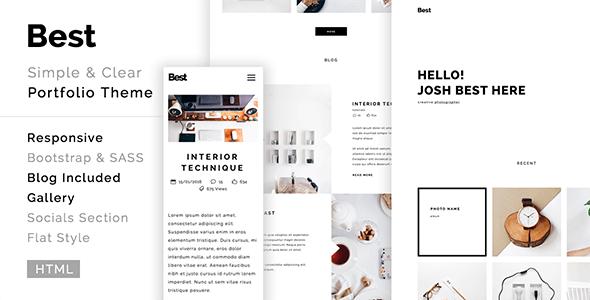 Best - creative, clean, modern portfolio template - Portfolio Creative