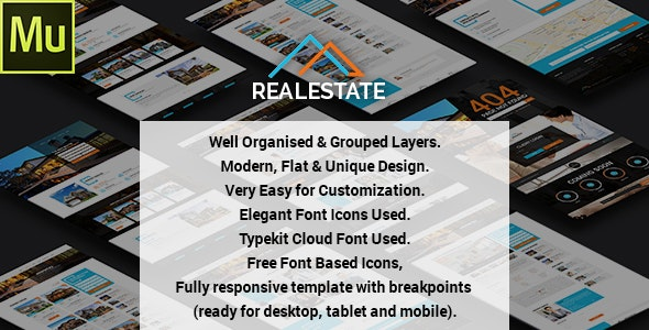 Real Estate - Muse Theme - Corporate Muse Templates