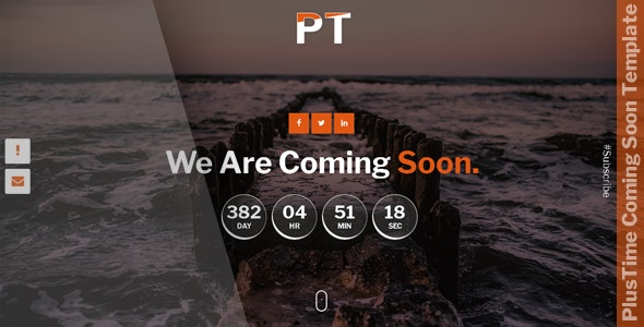 PlusTime - Coming Soon Template - Specialty Pages Site Templates